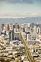 USA, California, San Francisco, view from Twin Peaks on Financial District with Twin Peaks Boulevard - BRF01408