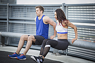 Couple training outdoor - ASCF00652