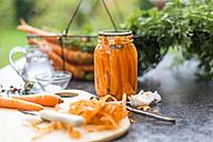 Fermented carrots in preserving jar - SARF02918