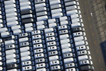 Brazil, Rio de Janeiro, Aerial photograph of vans at Cargo and Cruses Ship port - BCD00029
