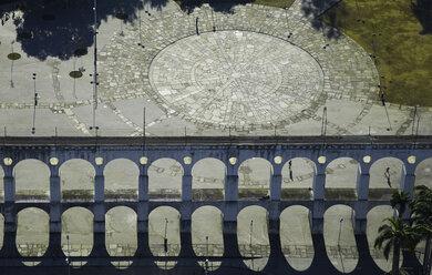 Brazil, Rio de Janeiro, Aerial photograph of the Aqueduct Carioca in downtown - BCDF00032