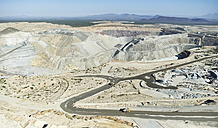 USA, Arizona, Aerial view of a working Gold Mine south of Tucson - BCDF00068