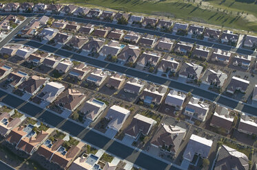 USA, Nevada, Aerial photograph of suburbs in North Las Vegas - BCDF00143