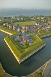 USA, Virginia, Aerial photograph of Fort Monroe in Hampton - BCDF00152