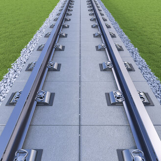 3D rendering, rail tracks - UWF01005