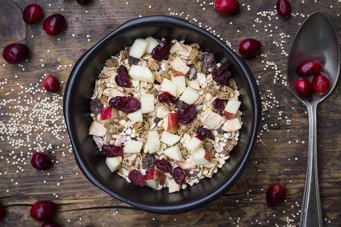 Muesli with puffed quinoa, wholemeal oatmeal, raisins, dried cranberries and apple - LVF05352