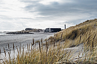 Denmark, Skagen, bunker and lighthouse at the beach - MJF02006