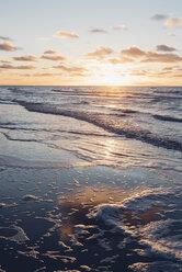 Denmark, North Jutland, tranquil beach at sunset - MJF02060