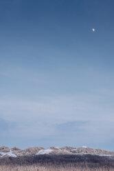 Denmark, Hals, moon over dunes - MJF02084