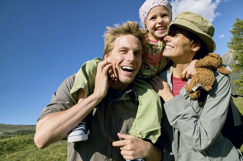 Happy family on a hiking trip - FSF00557