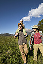 Happy family on a hiking trip - FSF00560