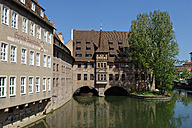 Germany, Bavaria, Nuremberg, Germany, Nuremberg, Heilig-Geist-Spital on Pegnitz River - LB01490