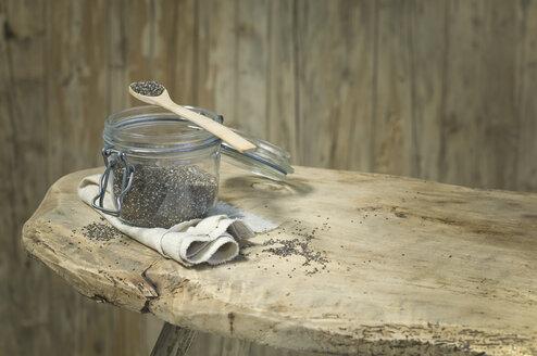 Glass of chia seeds - ASF06023