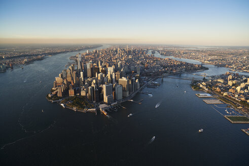 USA, New York, Aerial photograph of New York City and Manhattan Island - BCDF00168