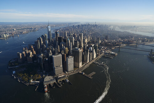 USA, New York, Aerial photograph of New York City and Manhattan Island - BCDF00174