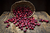 Cranberries in basket - LVF05365