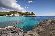spain, Menorca, View of Cala Mitjaneta in Cala Mitjana - RAEF01503