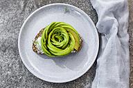 Avocado rose on bread - SARF02959
