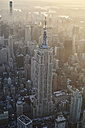 USA, New York State, New York City, Cityscape with Empire State building in the morning - BCDF00203