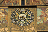 Germany, Ulm, Astronomical clock at city hall - PCF00280