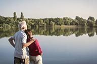 Senior couple at a lake - ONF01028