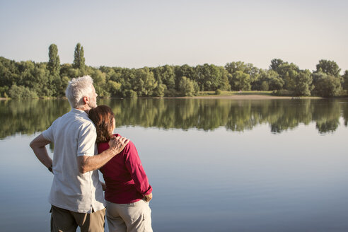 Senior couple at a lake - ONF01028