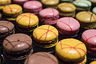 Assortment of colorful macarons - ABZF01348