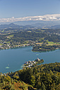 Austria, Carinthia, View to Maria Woerth at Lake Woerthersee - GFF00805