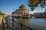 Germany, Berlin, Berlin-Mitte, Museumsinsel, Bodemuseum and Berlin TV Tower - FRF00467
