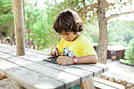 Little boy using tablet - VABF00806
