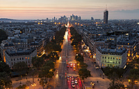 France, Paris, Champs-Elysees at sunset - FCF01101