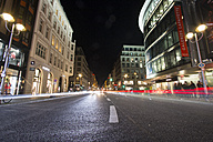 Germany, Berlin, Friedrichstrasse at night - SJ00186