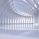 Empty hall in a modern building, 3D Rendering - UWF01036