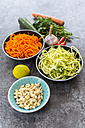 Ingredients of vegetable noodle salad - SARF03011