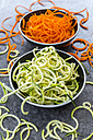 Bowl of Zoodles and bowl of carrot spaghetti - SARF03014