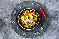 Garnished vegetable noodles in a bowl - SARF03020