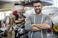 Portrait of confident tailor in workshop - ZEF10667