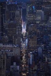 USA, New York City, Rush hour traffic on 7th Avenue - BCDF00230