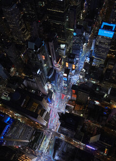 USA, New York City, Times Square at night - BCD00236