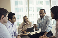 Business people in meeting having interesting discussion - WESTF21770