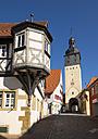 Germany, Uffenheim, view to Scherenhof and Wuerzburger Tor - SIEF07127