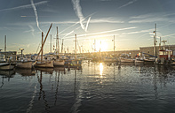 France, Saint-Tropez, marina at sunset - DEGF00922