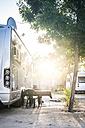 Caravan on campsite - DEGF00934