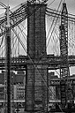 USA, New York City, part of Brooklyn Bridge - ZEF11096