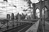 USA, New York City, view from Brooklyn Bridge to Manhattan - ZEF11111