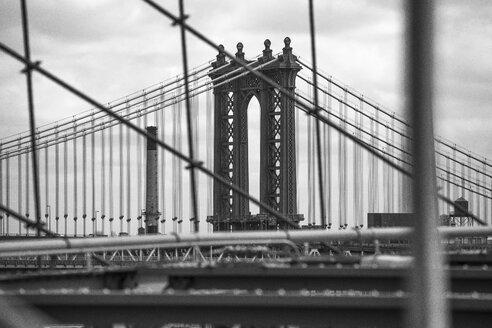USA, New York City, part of Brooklyn Bridge - ZEF11120