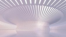 Empty hall in a modern building, 3D Rendering - UWF01055
