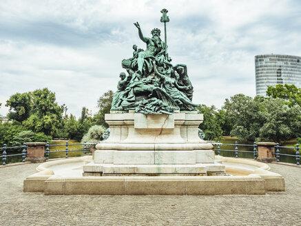 Gemrany, Duesseldorf, fountain sculpture 'Vater Rhein und seine Toechter' - KRP01929