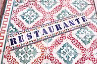 Portugal, Lisbon, Azulejos and word restaurante - CMF00585