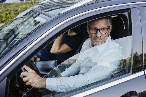 Businessman in car - RORF00397